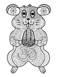 Hamster  Ecureuils et rongeurs  Coloriages difficiles pour adultes