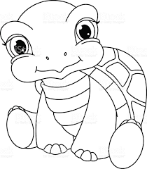 baby turtle coloring stock vector art 507574454 istock
