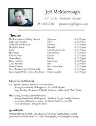 best resume template word theatre resume template word best resume collection