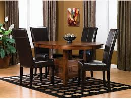 dalton 5 piece oak dining package with brown chairs the brick