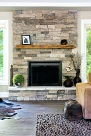 stone veneer fireplace redo refacing brick with faux from tile to