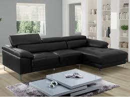 canape cuir angle droit canapé d angle en cuir blanc ou noir solange