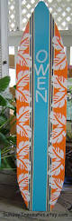 4ft surfboard orange navy turquoise hawaiian wall art beach sign