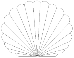 printable pictures of seashells free printable coloring pages
