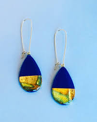 royal blue earrings athena royal blue teardrop dangle earrings general store