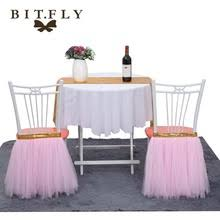Diy Wedding Chair Covers Popular Tulle Chair Covers Buy Cheap Tulle Chair Covers Lots From