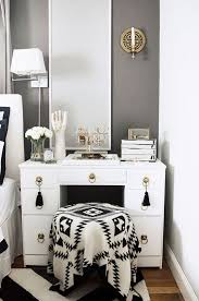 bedroom vanity with lighted mirror interesting bedroom vanities lighted mirror black white stripes