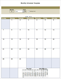 monthly schedule template 12 free excel pdf documents download