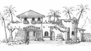 Beach House Building Plans Mexican Style House Plans Courtyard Mexico Beach Building Plans