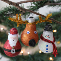 bulk craft idea glittery light bulb ornament at