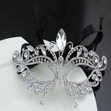 silver masks silver tone venetian bridal masquerade rhinestone eye mask