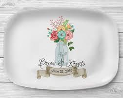 personalized melamine platter floral platter etsy