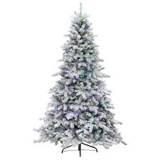home decor marvelous pre lit flocked tree with d24 7 5