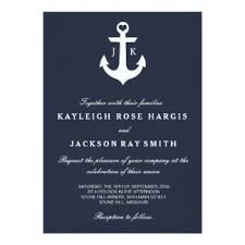 nautical wedding invitations announcements zazzle