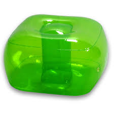 Inflatable Chair And Ottoman by Furniture Adorable Green Clear Plastic Bubble Armchair With Blue