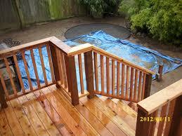 vintage cedar deck railing ideas deck railing ideas to beautify
