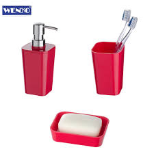 Wenko Bad Wenko 3er Bad Set Candy Soft Touch Seifenablage Seifenspender