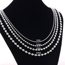ball chain necklace images Width 1 6mm 2mm 2 4mm 3 2mm 4mm 5mm stainless steel round ball jpg
