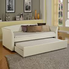 Leather Daybed With Trundle Axondirect Twin Size Metal Daybed With Pullout Trundle Bed In