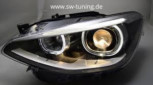 eye bmw headlights eye headlights for bmw f20 f21 11 15 high led drl black sw