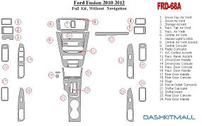 2010 ford fusion dash lights ford fusion 2010 2012 premium dash trim kit frd 68a