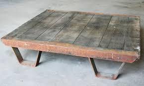 industrial modern coffee table salvaged industrial furniture vintage industrial coffee table