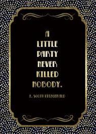 art deco roaring twenties birthday invitation the great gatsby