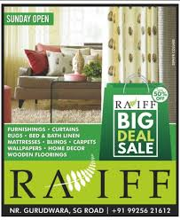Home Decor Ahmedabad Raiff Big Deal Sale Furnishings Curtains Beds Bath Linen