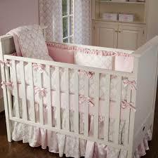 Dahlia Nursery Bedding Set Bedding Balboa Baby Deluxe Bumper Grey Dahlia Coral Bloom