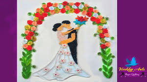 wedding wishes photo frame paper quilling beautiful custom wedding greeting card with