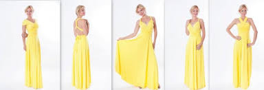 yellow infinity dress floor length long straps in pastel yellow