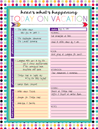 free printable daily and weekly vacation calendars free