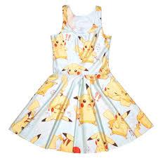 cartoon print skater dress cute women summer dress slim anime