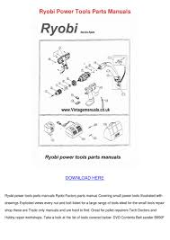 ryobi power tools parts manuals by grazynafrench issuu