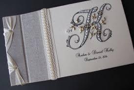 monogram guest book monogram guest book wedding guest book guestbook linen baftt