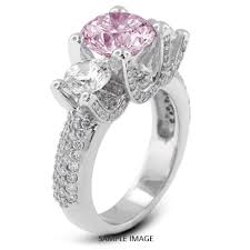 purple diamond engagement rings 14k white gold three engagement rings with 5 26 total carat