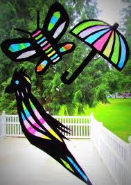 tissue paper stained glass craft laura williams