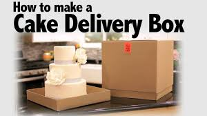 Just Like Home Design Your Own Cake by How To Make A Cake Delivery Box Cake Business Tips Youtube