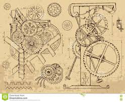 clock in steampunk style royalty free stock photos image 27451158