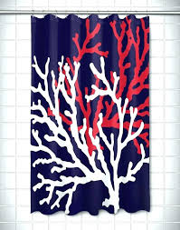 Coral And Navy Curtains Coral And Blue Shower Curtain Coral And Navy Blue Shower Curtains