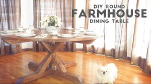 farmhouse table modern chairs diy round farmhouse dining table modern builds ep 52 youtube