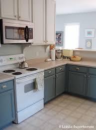 Diy White Kitchen Cabinets by Boring To Blue Kitchen Makeover Hometalk