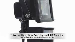 Micromark Outdoor Lighting by 10w Led Flood Light With Pir Detection Green Planet Led Lights