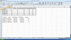 How To Make A Time Sheet Using Matrices And If Statements In Excel