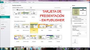bordes para publisher tarjeta presentacion publisher español youtube