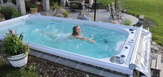 spa d exterieur bois installer un spa de nage à contre courant ctm rénovation