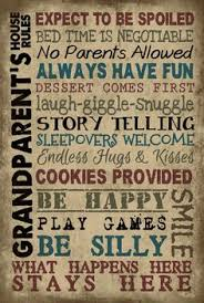 Grandparent Plaques Grandparents Rules Painted Wood Signs Painted Vintage Reloved