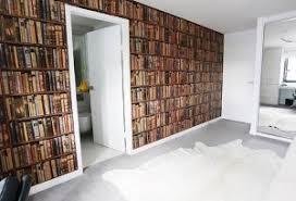 Wallpaper That Looks Like Bookshelves   bookshelf wallpaper gives an instant library feel
