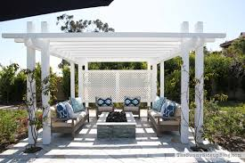 Photos Of Pergolas by Outdoor Pergola And Fire Pit The Sunny Side Up Blog