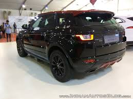 land rover evoque black range rover evoque showcased at aps 2017